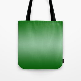Green to Pastel Green Horizontal Bilinear Gradient Tote Bag