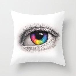 Colour Your World Throw Pillow