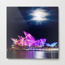 Vivid Lights Metal Print