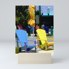 Brightly Colored Chairs Mini Art Print