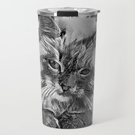 AnimalArtBW_Cat_20170907_by_JAMColorsSpecial Travel Mug