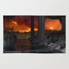 Drevos - Sci Fi - Sunset - Science Fiction - ZG 3D Rug