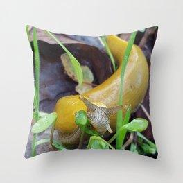 Banana Slug Throw Pillow