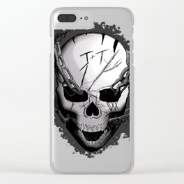 Chained Skull Clear iPhone Case