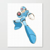 mega man Canvas Prints featuring Mega-Man by HypersVE