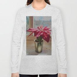 Painted Poinsettia Long Sleeve T-shirt