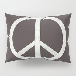 Peace - peace flag, peace, love, woodcut, linocut, vintage, hippie, happy Pillow Sham