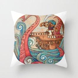 Simbad: Monsters of deep sea. Throw Pillow