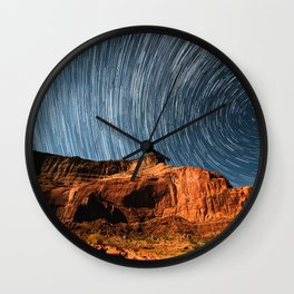 Stars on the Cliffside Wall Clock