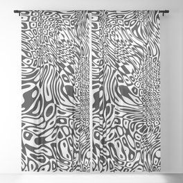 Black  and white psychedelic optical illusion Sheer Curtain