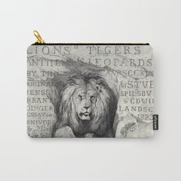 Vintage Lion etching Carry-All Pouch