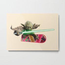 Hover Yoda Metal Print