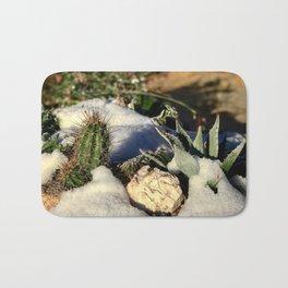 Cactus & Agave in Snow Bath Mat