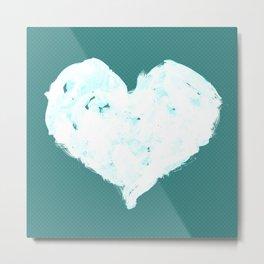 Feel in Watercolour: Blue Metal Print