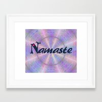 namaste Framed Art Prints featuring Namaste by Stay Inspired