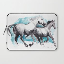 Horses (Mom&kid) Laptop Sleeve