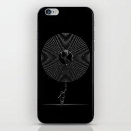 I Dream To Explore The World (Black) iPhone Skin