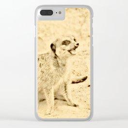 Vintage Animals - Meerkat Clear iPhone Case