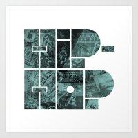 hip hop Art Prints featuring Hip Hop by boldversion