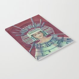 """Portrait with silver chullo"" Notebook Notebook"