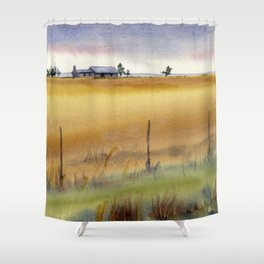 A House on the Hill Shower Curtain