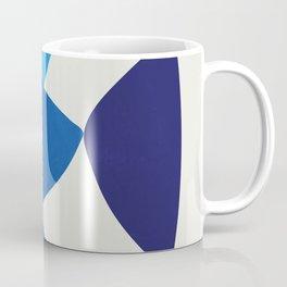 Abstarct blue fish - shapes Coffee Mug