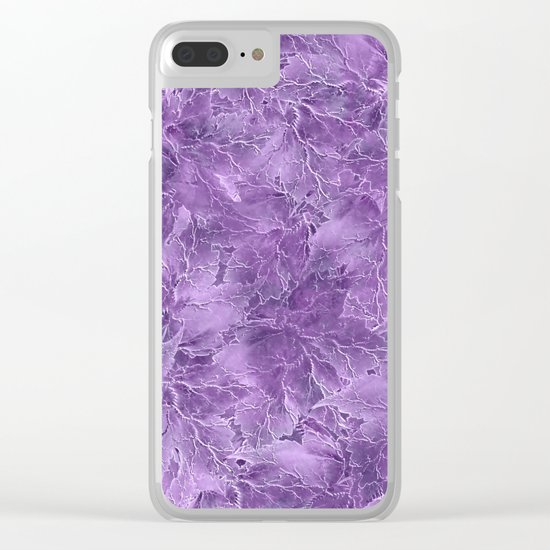 Frozen Leaves 15 Clear iPhone Case