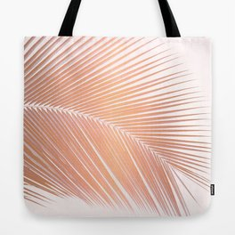 Palm leaf - copper pink Tote Bag