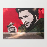 che Canvas Prints featuring Che by Robin J. James