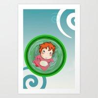 ponyo Art Prints featuring Ponyo  by SamIAmTheSam