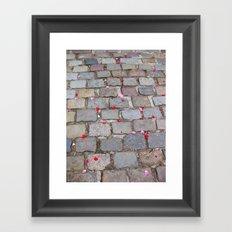 Rose Petals, Parc de Belleville, Paris Framed Art Print
