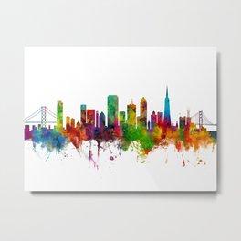 San Francisco City Skyline Metal Print