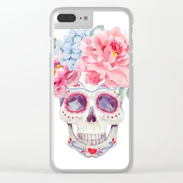 Watercolor mexican holidays of the dead Clear iPhone Case