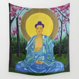 Meditation in bloom Wall Tapestry