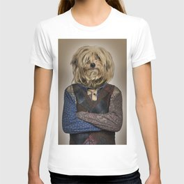 Shaggy mixed-breed dog I T-shirt