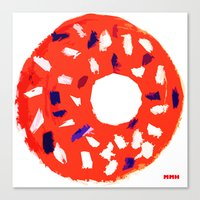 doughnut Canvas Prints featuring Doughnut by Myles Hunt