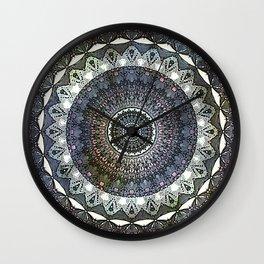 Distressed Mandala Wall Clock