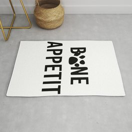 bon appéti Sign, Dog Art, Bone Appetite Sign, Pet Wall Decor Printable, Cute Puppy Decorations, Fun Rug
