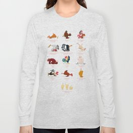 Chicken Yoga Long Sleeve T-shirt