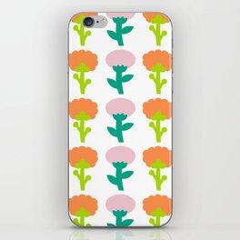 Retro Flower iPhone Skin