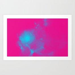 Abstract Romantic Nebulla with Galactic Cosmic Cloud 30 Art Print
