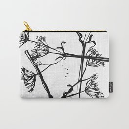 Nature illustration in black ink 1 Carry-All Pouch