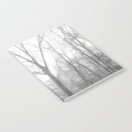 Black and White Forest Illustration Notebook