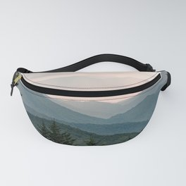 Smoky Mountain Pastel Sunset Fanny Pack