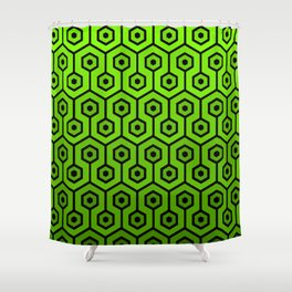Geometric Design 1 (Lime) Shower Curtain
