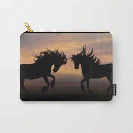 Wild Horses Silhouette Carry-All Pouch