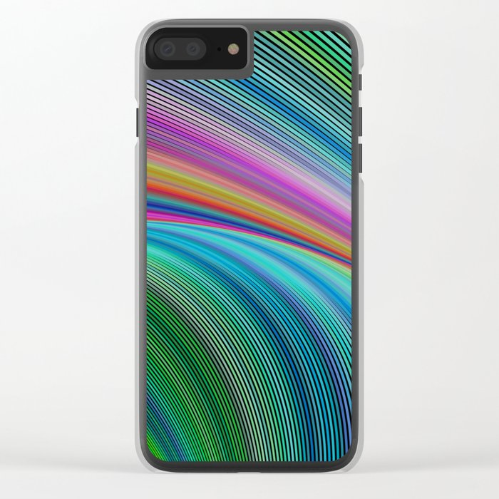 Colorful distortion Clear iPhone Case