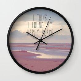 I think I found my Happy Place Wall Clock
