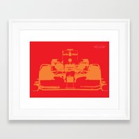 f1 Framed Art Prints featuring Fast F1 by AJ Richards