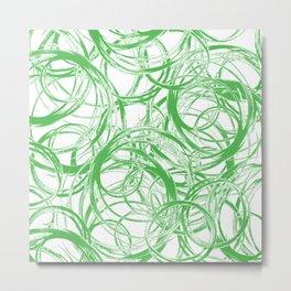Greenery Orbit Metal Print